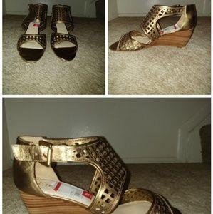 Gold/Copper sandal heels